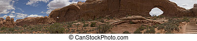 Arches and Canyonlands National Park, Moab, Utah Panorama -...