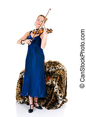Attractive violinist - Attractive young female violinist...