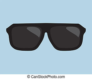 Black vector hipster sunglasses - Black hipster sunglasses...