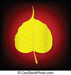 Golden boh leaf