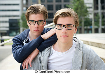 Two young adult brothers