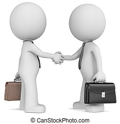 Business handshake - The Dude X 2 shaking hands wearing tie...