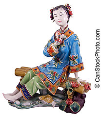 porcelain statue of a china woman