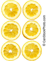 lemon slices on white - Lemon Fruit Slices Food Objects...