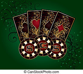 Casino background with poker elements vector illustration