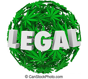 Legal Marijuana Leaf Ball Sphere Medical Use Prescription...