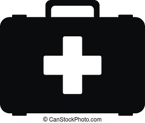First aid icon on white background. Vector illustration.