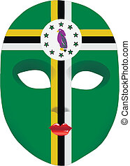 Dominica mask - Classic mask with symbols of statehood of...