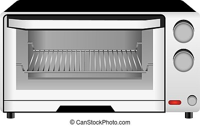 Oven - Home cooking board oven baking heat treatment. Vector...