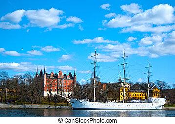 Skepp,  Stockholm,  salling