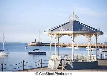 Beautiful Gazebo in a harbor in Dun loagire, Ireland