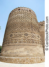 Shiraz - Tower of the Arg of Karim Khan fortress. The Arg of...
