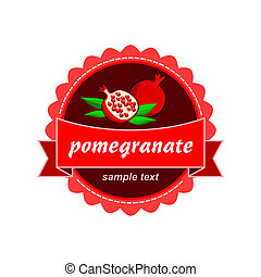 Pomegranate Fruit fresh labels.