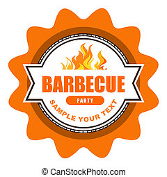 Barbecue label - Barbecue Symbol.
