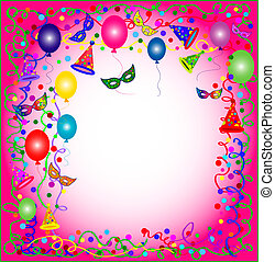 pink party and carnival background - illustration of a...