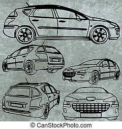 vector car set