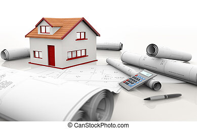 house blueprints - house model, blueprints and calculator on...