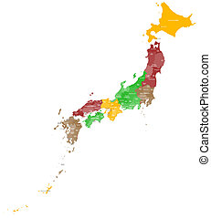 Map of Japan - A large and detailed map of Japan with all...