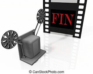 the projector and the film