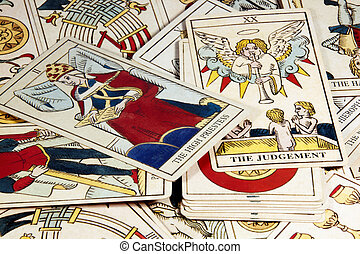 Pile of Tarot Cards for Fortune Telling - pile of tarot...