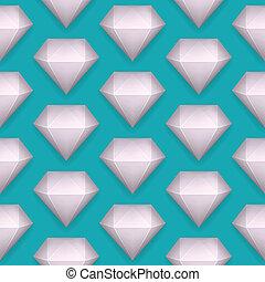 Vector shiny diamond seamless pattern
