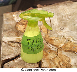 Homemade bug spray - Plastic bottle with homemade, natural...