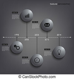 Info graphic time line round element template vector eps 10