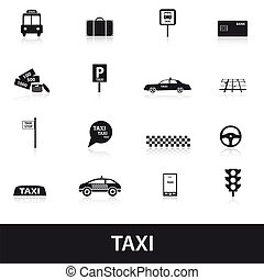 taxi icons eps10