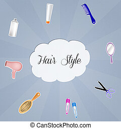 Hair style - illustration of hair style