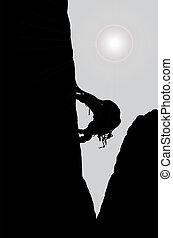 climber on the rock eps10