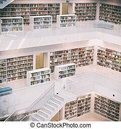Public Library - The Stuttgart City Library in Stuttgart,...