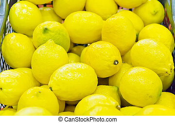 Background of yellow lemon - Photo of background with yellow...