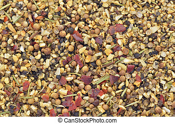 Marinade spices - Close-up of spice marinade used to cook...