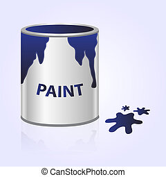 paint can blue eps10