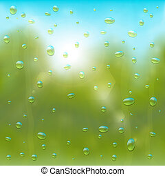 Summer rain background