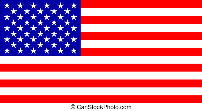 flag USA - color image striped banner of the Stars U.S.