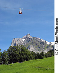 Cable car in Grindelwald Bern, Switzerland