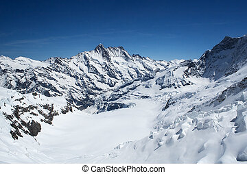 Aletsch glacier view from the Jungfrau