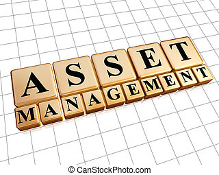 asset management in golden cubes - asset management - text...
