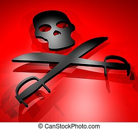 Red pirate - Creative design of red pirate
