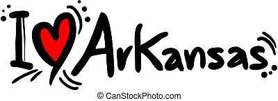 Arkansas love - Creative design of arkansas love