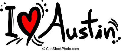 Austin love - Creative design of austin love