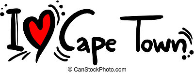Cape town love - Creative design of cape town love