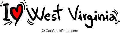 West Virginia love - Creative design of west virginia love
