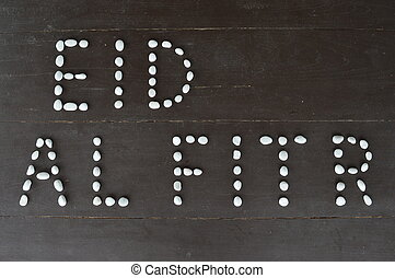 "Eid Al Fitr - Horizontal image of the muslim festivity ""EID..."
