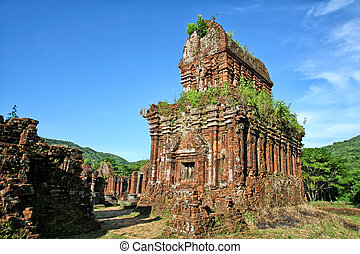 My Son Vietnam - Temple ruin of the My Son complex in...