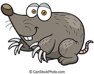 Mole - Vector illustration of cartoon mole