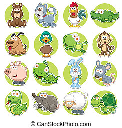 Animals set - Vector illustration of Animals set Cartoon