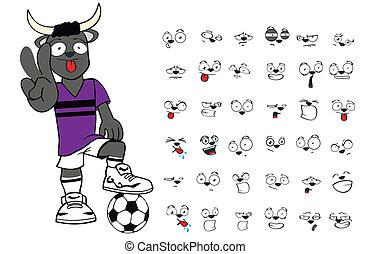 bull kid soccer cartoon set7