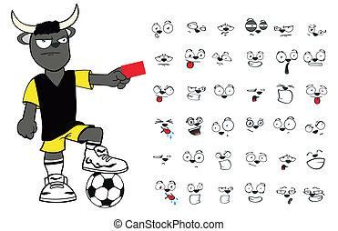 bull kid soccer cartoon set9